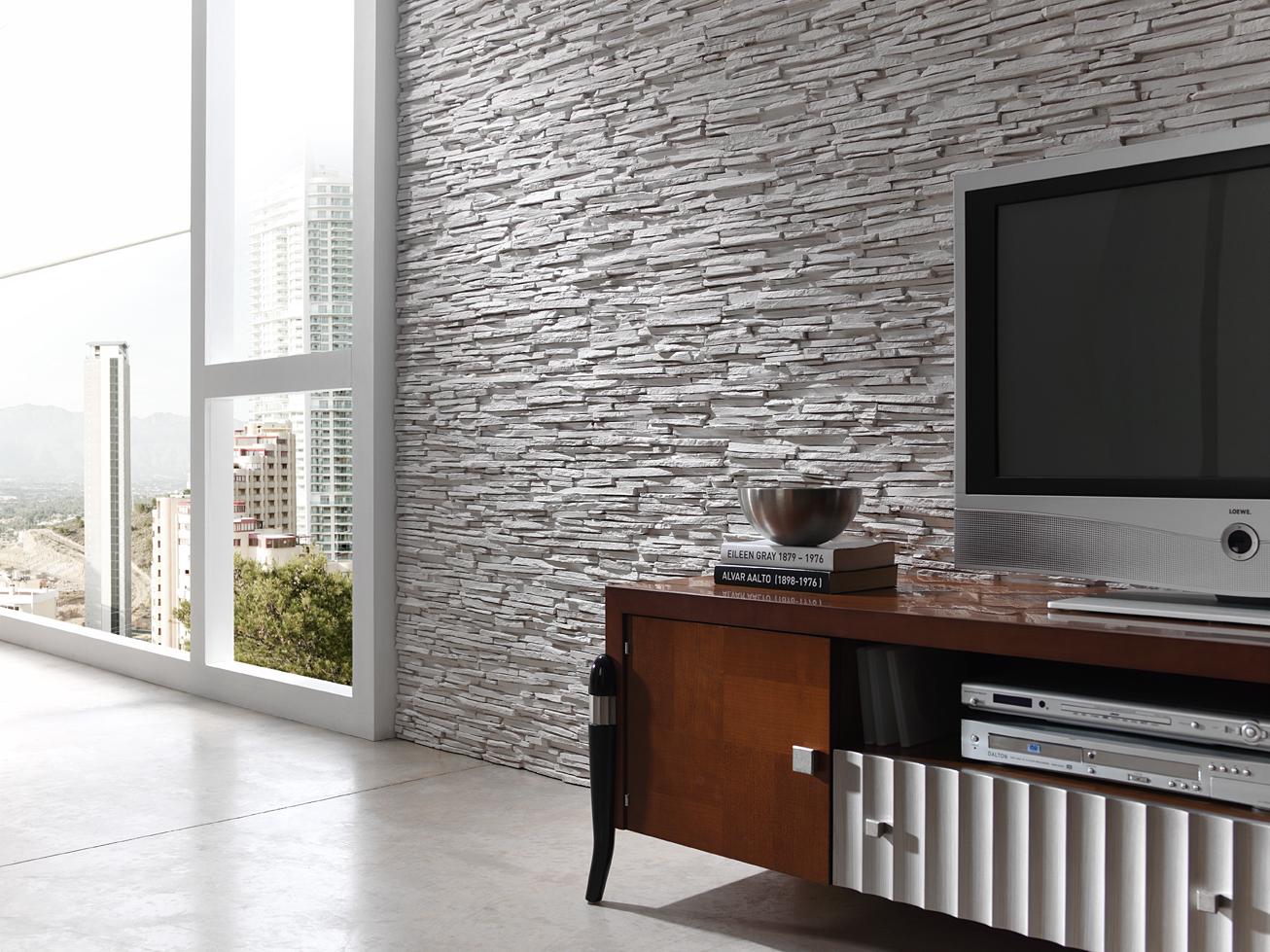 Steinoptik onlineshop steinwand wohnzimmer