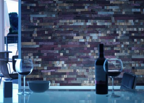 Nature Holzplatte Weinfass Merlot