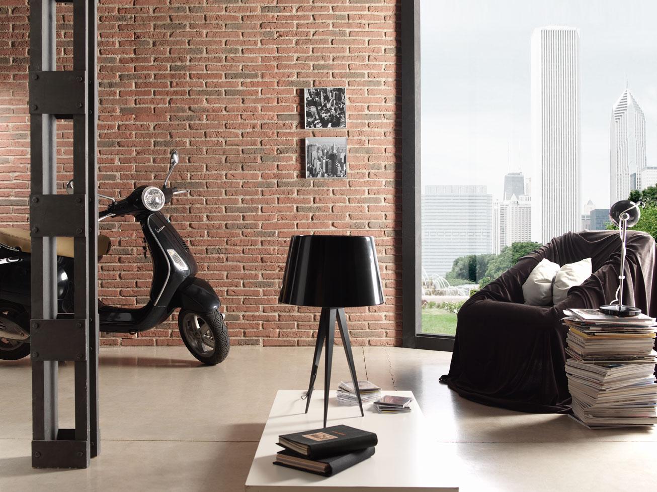Oder Umgekehrt Eine Ziegelsteinoptik Fügt Sich Auch Perfekt In Eine Modern  Eingerichtete Wohnung Ein.